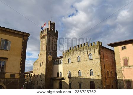 View Of The Town Hall Of The City Of Arezzo - Tuscany - Italy 03