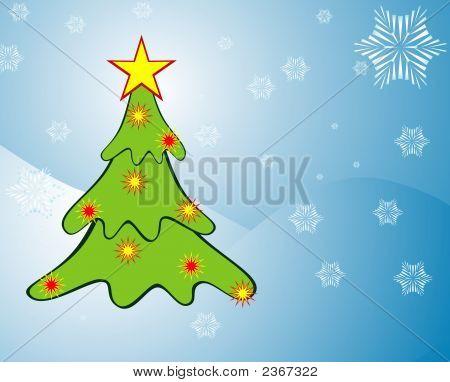 Illustration Of Christmas Background