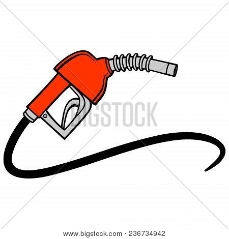 Fuel Pump - A Vector Cartoon Illustration Of A Gas Pump Concept.