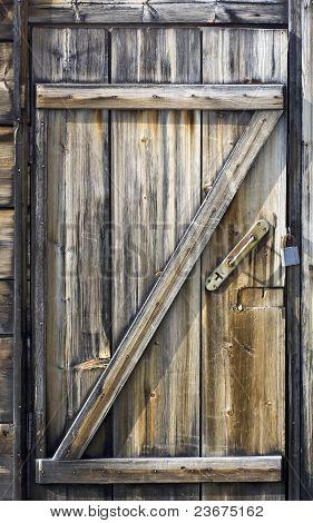 Wooden Door Of A Seaside Hut