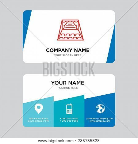 Stage Business Card Design Template, Visiting For Your Company, Modern Creative And Clean Identity C