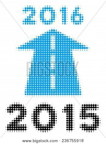 2016 Future Road Halftone Vector Icon. Illustration Style Is Dotted Iconic 2016 Future Road Icon Sym