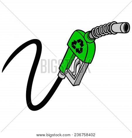 Bio Gas Pump - A Vector Cartoon Illustration Of A Bio Fuel Gas Pump Concept.