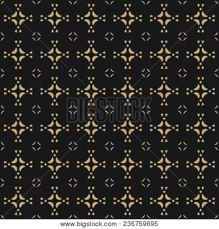 Vector Geometric Ornament Background. Gold Abstract Seamless Pattern In Traditional Asian Style. Gol