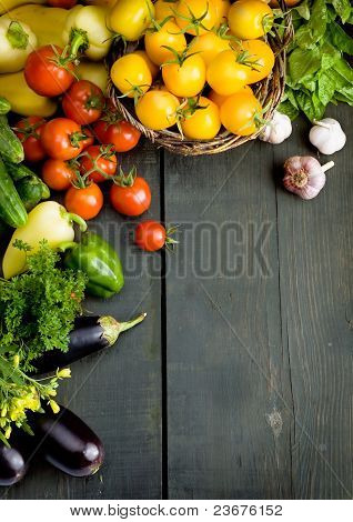 abstract design vegetables background