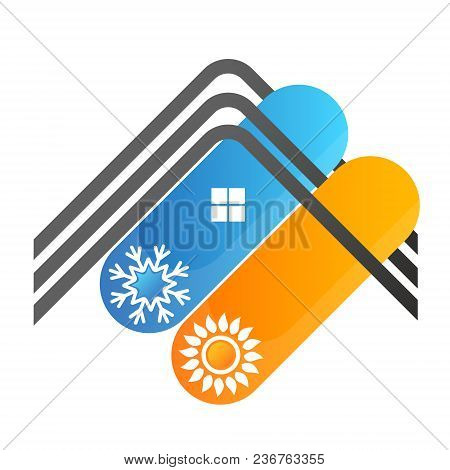 Air Conditioning Roof House Symbol For Business