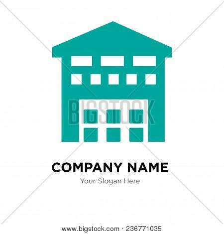 Boxes Piles Sto Inside A Garage For Delivery Company Logo Design Template, Business Corporate Vector