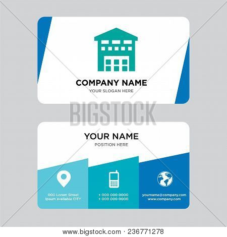 Boxes Piles Sto Inside A Garage For Delivery Business Card Design Template, Visiting For Your Compan