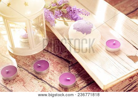 Lavender Salt Bath Bombs Aromatherapy At Home Composition
