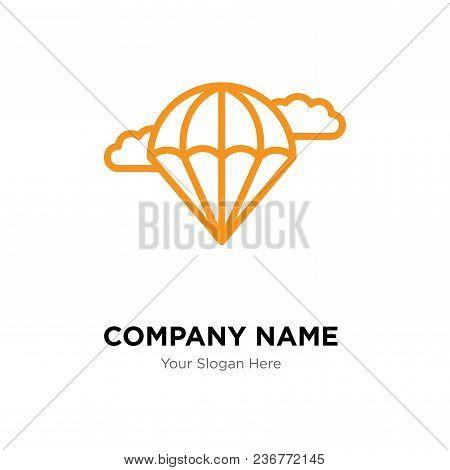Parachute Company Logo Design Template, Business Corporate Vector Icon