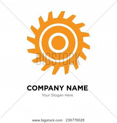 Saw Blade Company Logo Design Template, Business Corporate Vector Icon