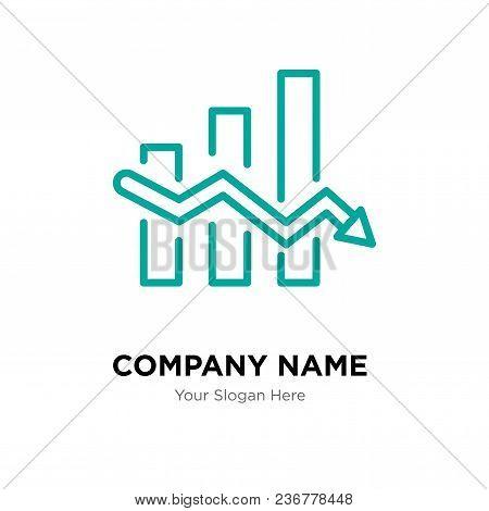 Data Analytics Descendant Company Logo Design Template, Business Corporate Vector Icon
