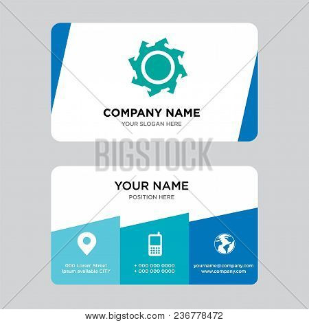 Saw Blade Business Card Design Template, Visiting For Your Company, Modern Creative And Clean Identi
