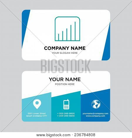 Coverage Level Business Card Design Template, Visiting For Your Company, Modern Creative And Clean I