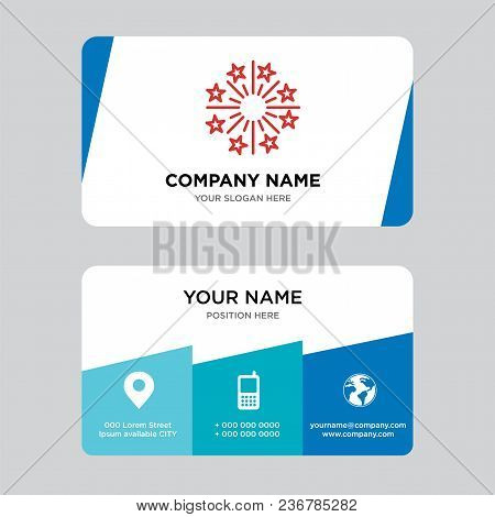 Fireworks Business Card Design Template, Visiting For Your Company, Modern Creative And Clean Identi