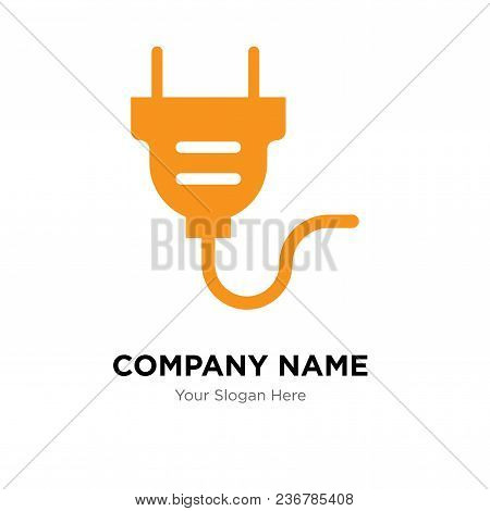 Electrical Plug Company Logo Design Template, Business Corporate Vector Icon