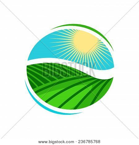 Plantation, Agriculture Logo Or Label. Vineyard, Farming Icon Vector