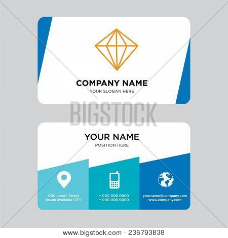 Diamond Business Card Design Template, Visiting For Your Company, Modern Creative And Clean Identity