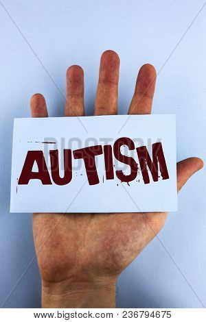 Word Writing Text Autism. Business Concept For Autism Awareness Conducted By Social Committee Around