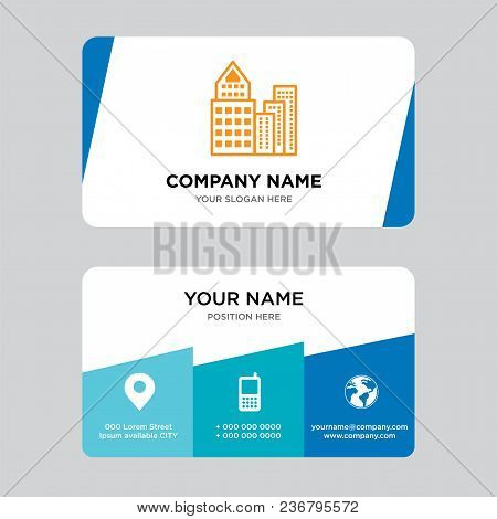 Building Business Card Design Template, Visiting For Your Company, Modern Creative And Clean Identit