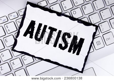 Conceptual Hand Writing Showing Autism. Business Photo Showcasing Autism Awareness Conducted By Soci