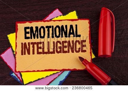 Conceptual Hand Writing Showing Emotional Intelligence. Business Photo Showcasing Capacity To Contro