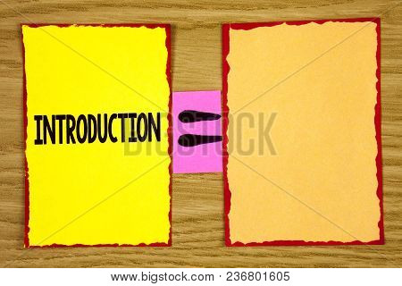Conceptual Hand Writing Showing Introduction. Business Photo Text First Part Of A Document Formal Pr