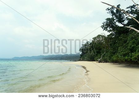 Stunning View Of Elephant Beach Near Radhanagar Beach On Havelock Island. Havelock Island Is A Beaut