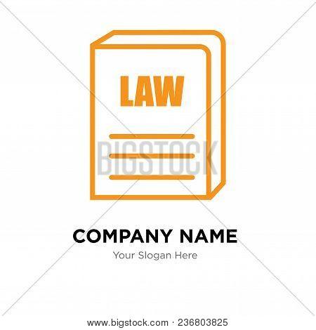 Law Book Company Logo Design Template, Business Corporate Vector Icon