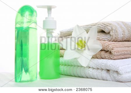Aromatic Oil, Shampoo And Towel