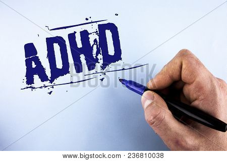 Handwriting Text Adhd. Concept Meaning Learning Made Easier For Children Teaching No More A Difficul