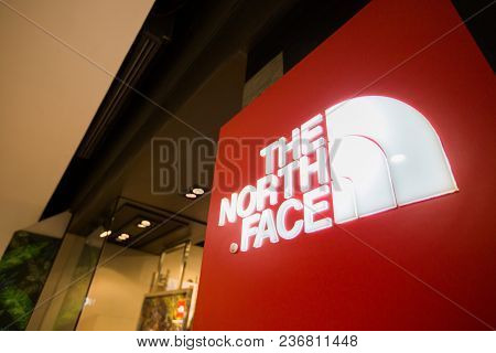 Chiangmai, Thailand - June 16, 2017:  The North Face Store; The North Face, Inc. Is An American Outd