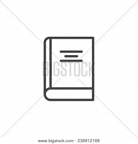 Covered Book Outline Icon. Linear Style Sign For Mobile Concept And Web Design. Reading Library Simp