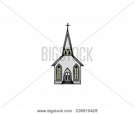 Church Icon Isolated On White Background. Vector Illustration For Religion Architecture Design. Cart