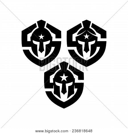 Spartan Warrior Grunge Stamp. Print For T-shirt With Greek Or Rome Helmet, Design Of Clothes. Vector
