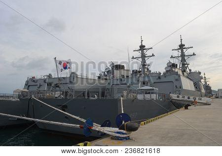 South Korean Naval Vessels Docked In Busan, South Korea On October 5, 2013.