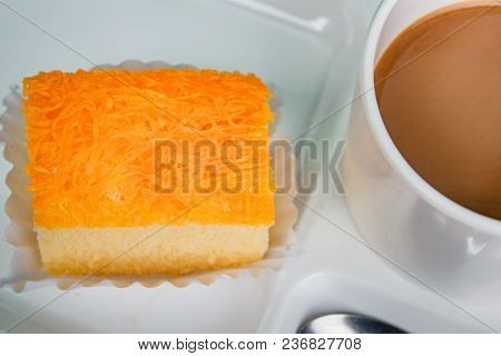 Coffee Break Time With Cake.