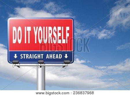do it yourself, self development. 3D, illustration