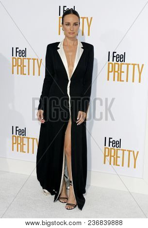 Catt Sadler at the Los Angeles premiere of 'I Feel Pretty' held at the Regency Village Theatre in Westwood, USA on April 17, 2018.