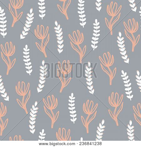 Modern Abstract Pattern Collection. Minimalist Trendy Floral Elements. Secondary Coordinating Patter