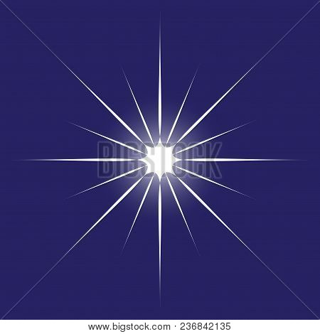 Vector Glowing Light Effect Stars Bursts With Sparkles. Shine Star Glitters. Vector Illustration