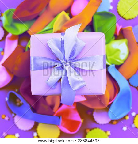Surrealism Decorative Composition A Set Of Materials For The Design Of The Holiday. Flat Lay Top Vie