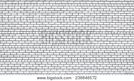 White Brick Wall Texture. Old Brickwork Surface. Grunge Background