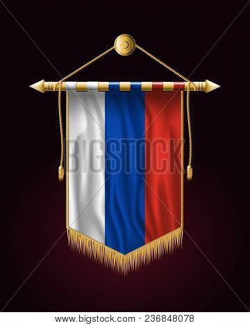 Flag Of Russia. Festive Vertical Banner. Wall Hangings