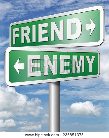 friend enemy best friends or worst enemies friendship 3D, illustration