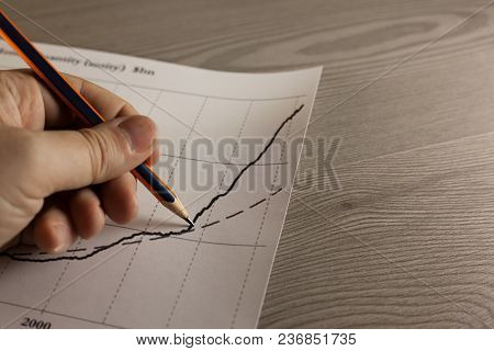 Graph, Business, Finance, Hand, Chart, Pencil, Pen, Growth, Diagram, Drawing, Success, Investment, M