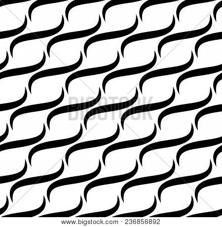 Waves Lines Seamless Vector Pattern.