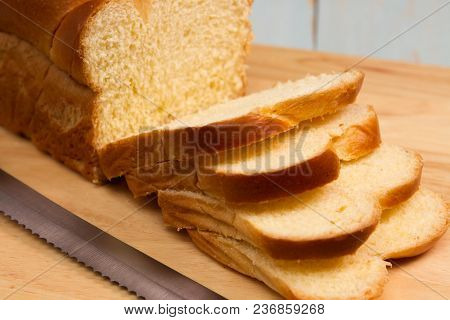 A Traditional French Brioche Loaf Of Bread