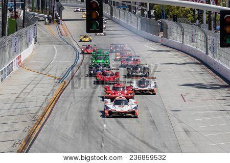 April 14, 2018 - Long Beach, California, USA:  The IMSA WeatherTech SportsCar Championship race for the Bubba Burger Sports Car Grand Prix at Streets of Long Beach in Long Beach, California.