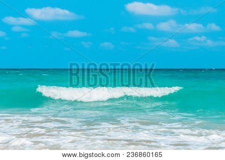Tropical Sea Under The Blue Sky. Beautiful Tropical Island. Andaman And Nicobar Islands. India. The